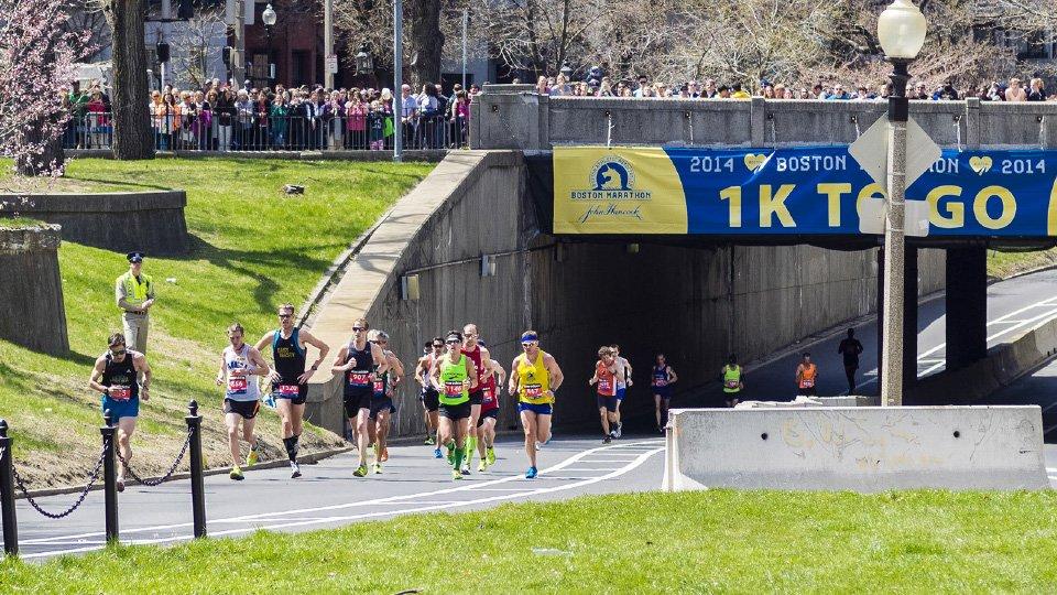 2014 Boston Marathon Runners